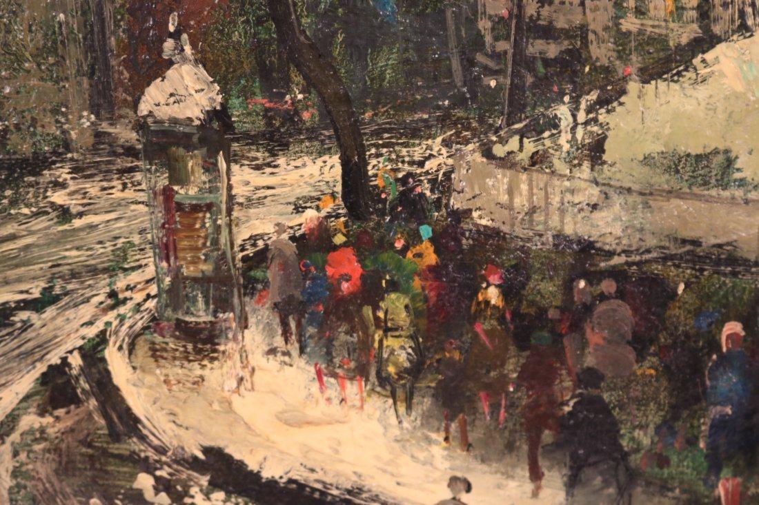 Oil on Canvas, Snowy Paris Street, Oliver Foss - 3