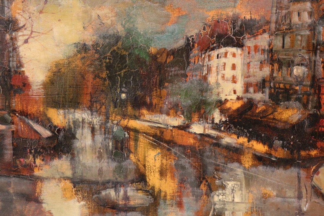 Oil on Canvas, Parisian Street Scene, Oliver Foss - 2