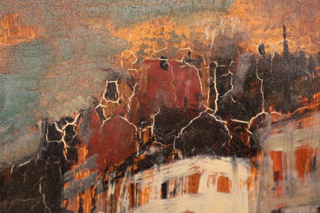 Oil on Canvas, Parisian Street Scene, Oliver Foss - 3