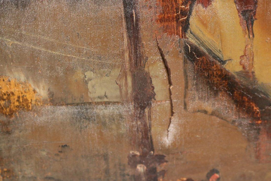 Oil on Canvas, Parisian Street Scene, Oliver Foss - 4