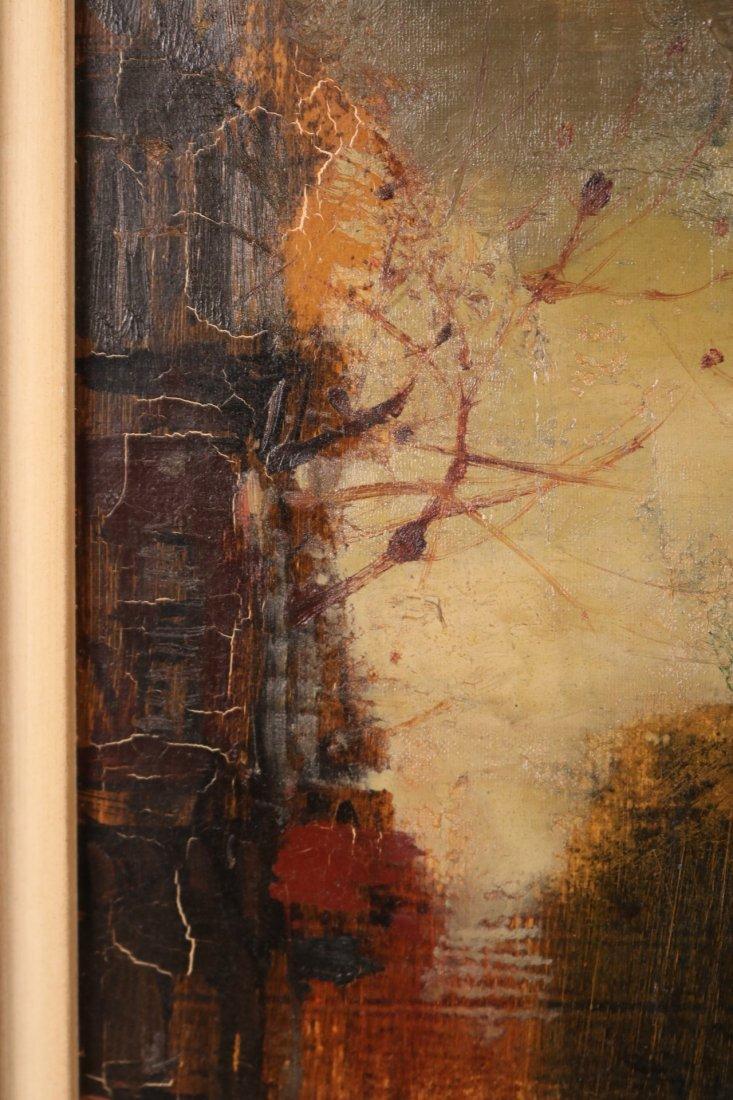 Oil on Canvas, Parisian Street Scene, Oliver Foss - 6