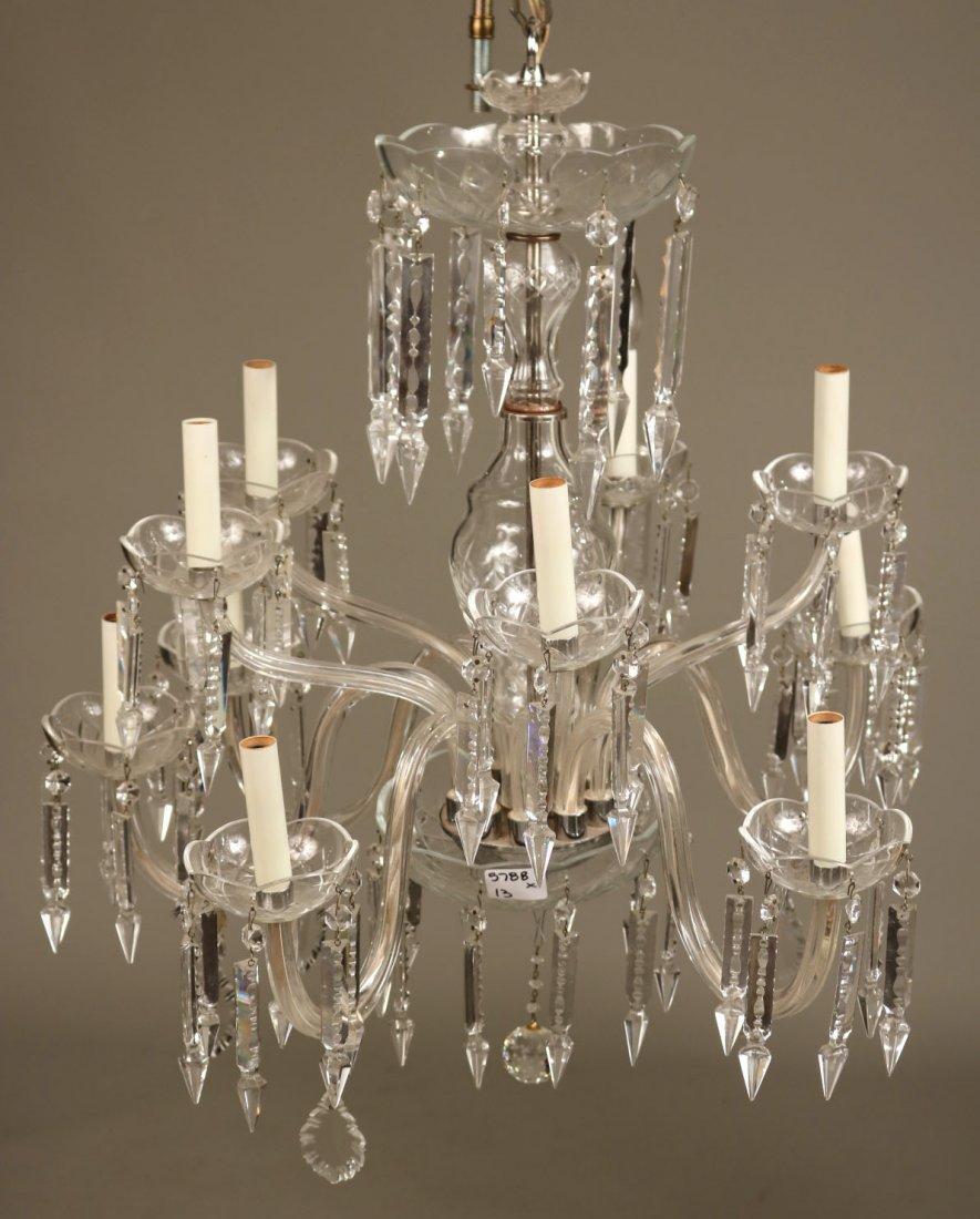 Venetian Style Ten-Light Crystal Chandelier