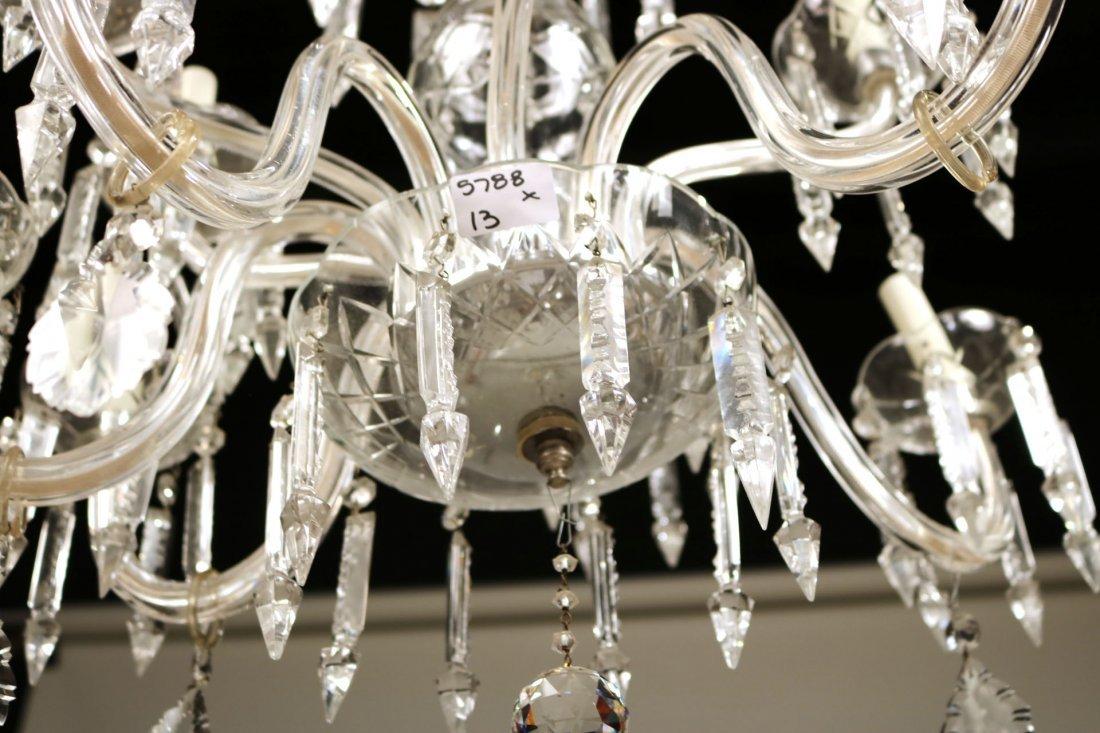 Venetian Style Ten-Light Crystal Chandelier - 4