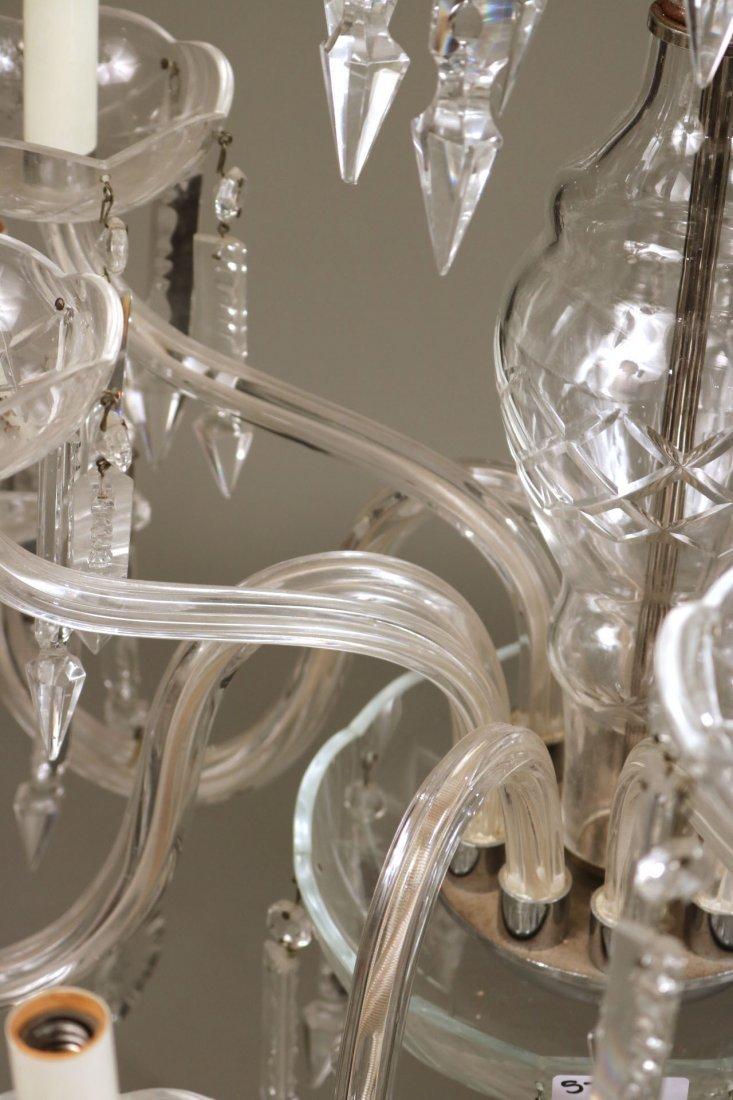 Venetian Style Ten-Light Crystal Chandelier - 5