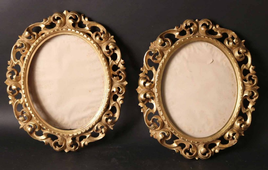 Pair of Neoclassical Style Giltwood Frames