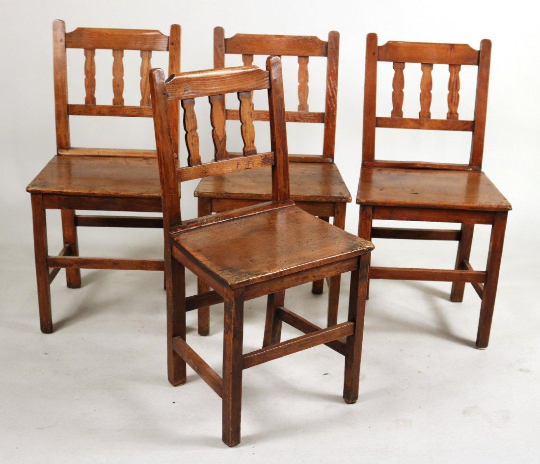 Four Similar Oak Side Chairs