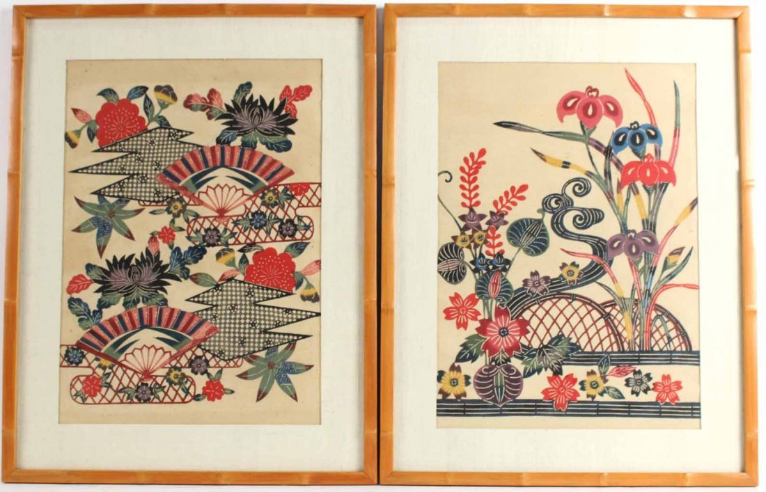 Two Paintings on Fabric