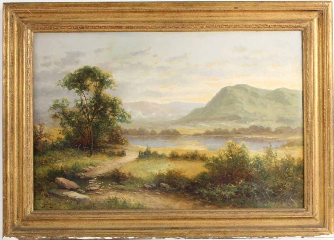 Oil on Canvas, Hudson River Scene