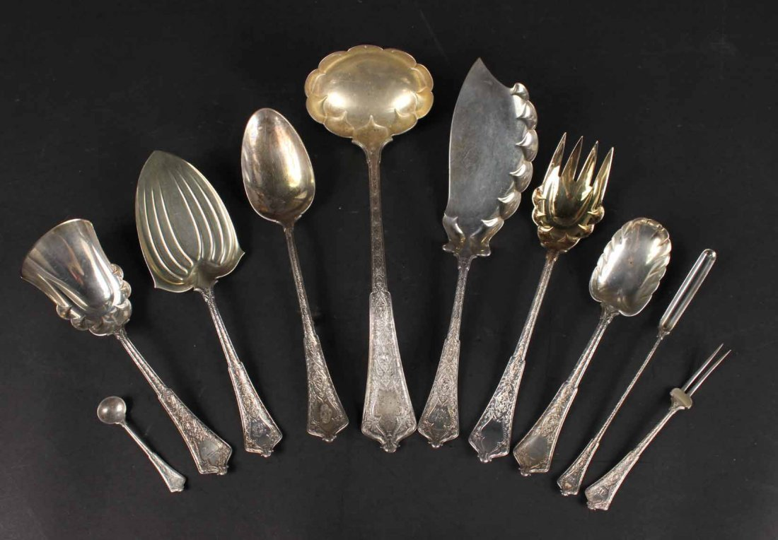 """Tiffany Sterling """"Persian"""" Serving Items"""