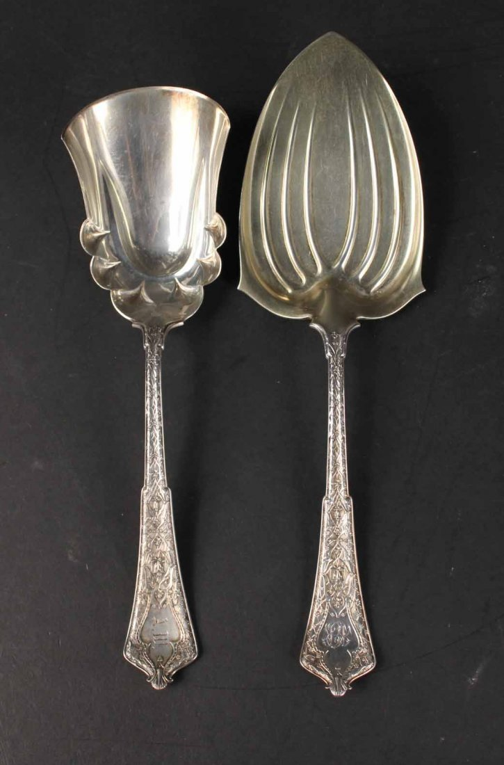"""Tiffany Sterling """"Persian"""" Serving Items - 2"""