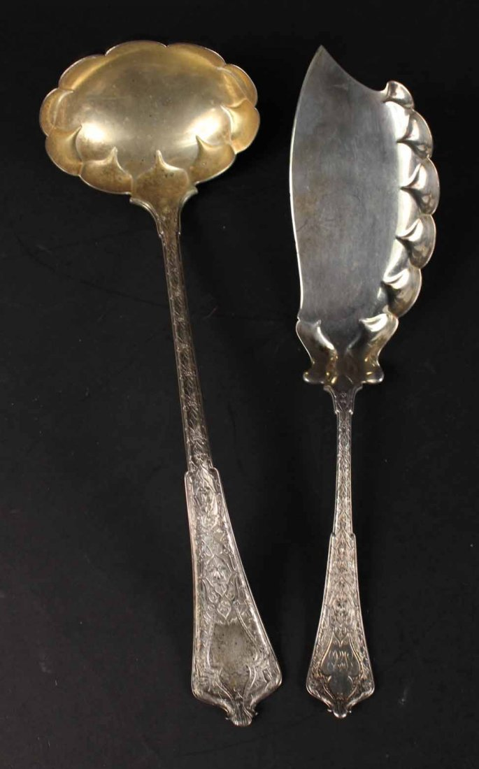 """Tiffany Sterling """"Persian"""" Serving Items - 4"""