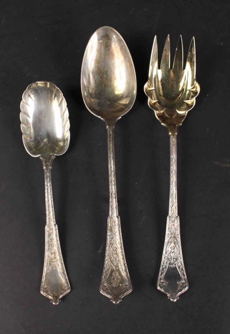 """Tiffany Sterling """"Persian"""" Serving Items - 5"""