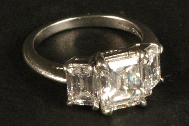 Tiffany & Co Platinum Three Stone Diamond Ring