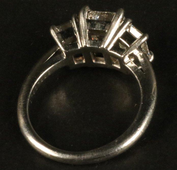 Tiffany & Co Platinum Three Stone Diamond Ring - 8