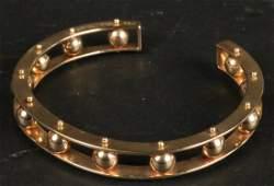 14K Yellow Gold Open Bangle Bracelet