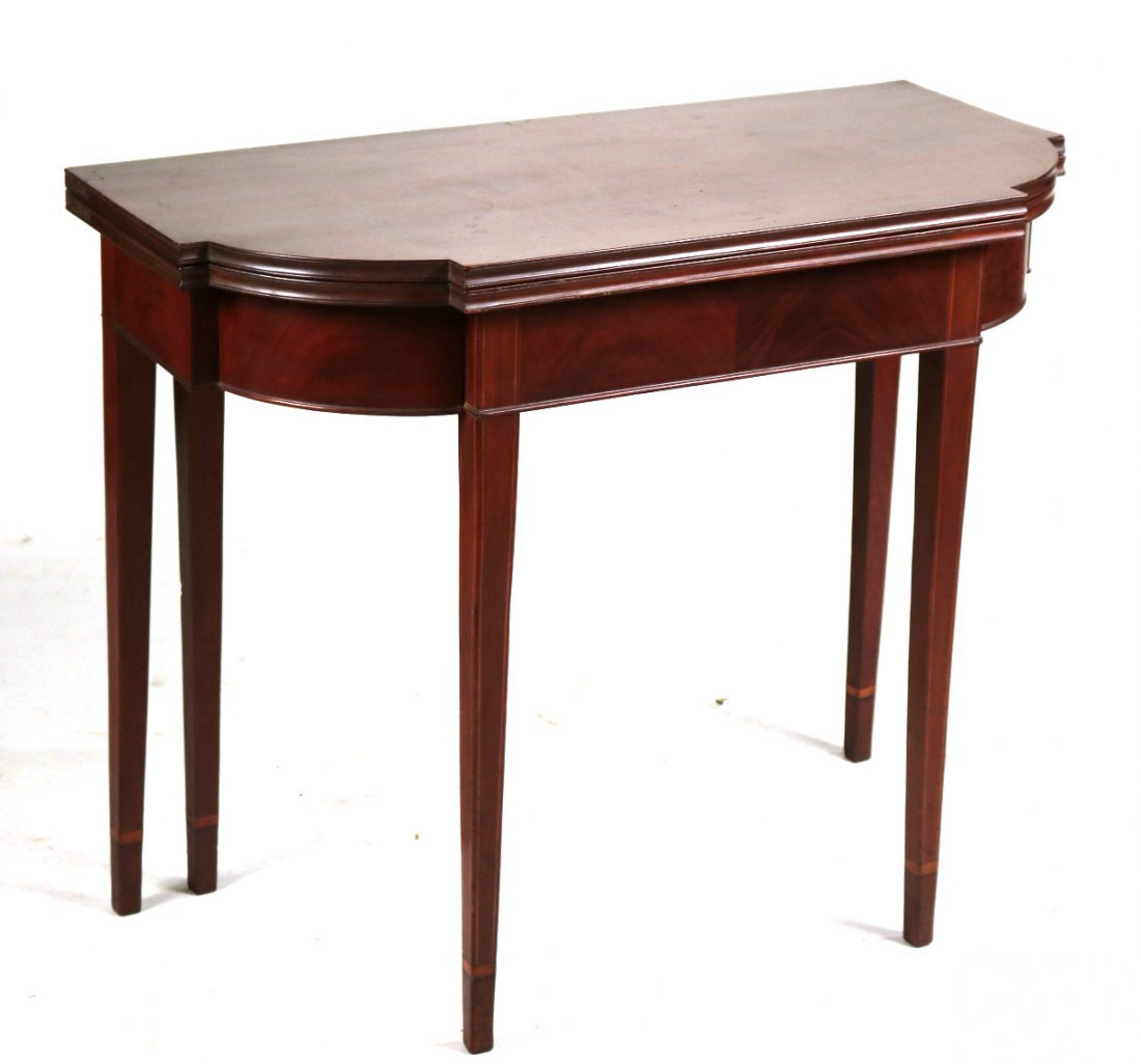Federal Inlaid Mahogany Gate-Leg Games Table