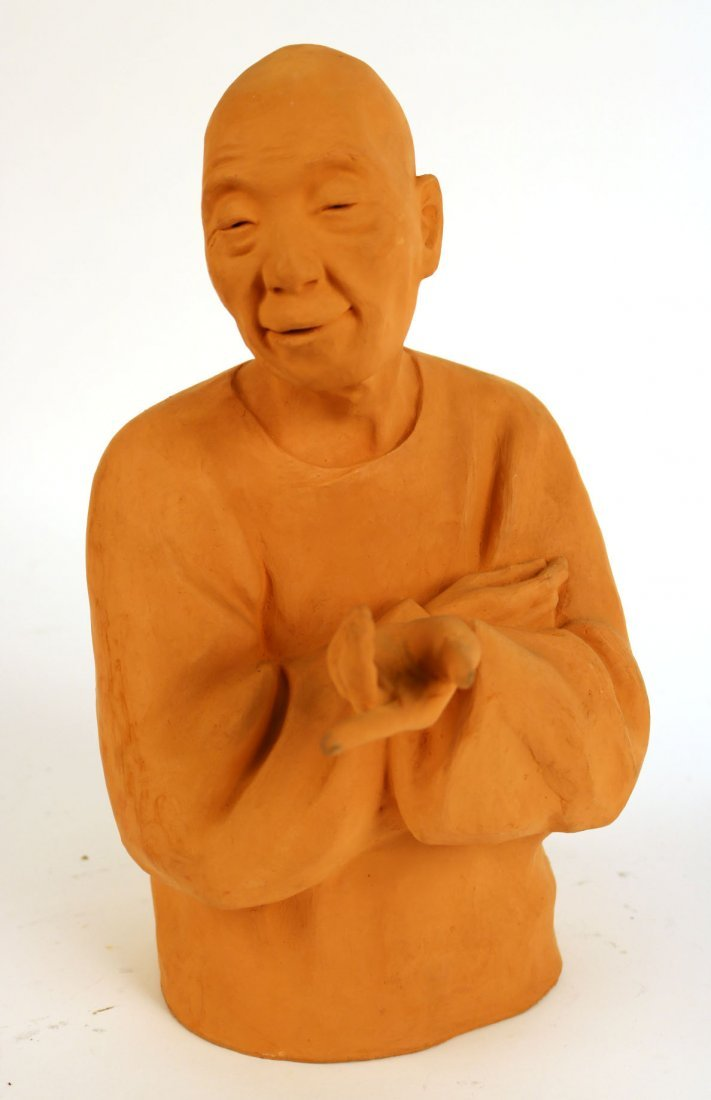 Terracotta Sculpture of a Man, Gaston Hauchecorne