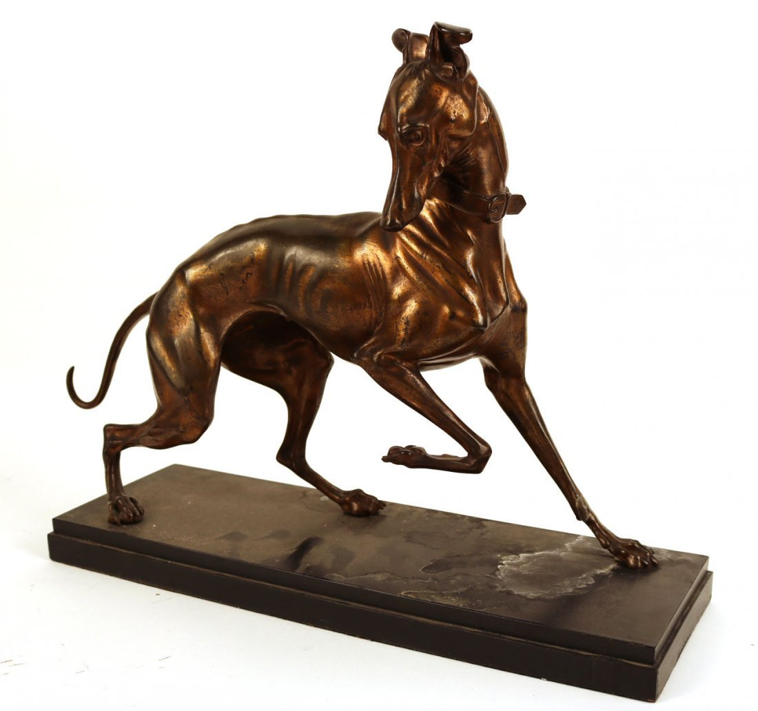 Gilt-Bronze Sculpture of a Whippet