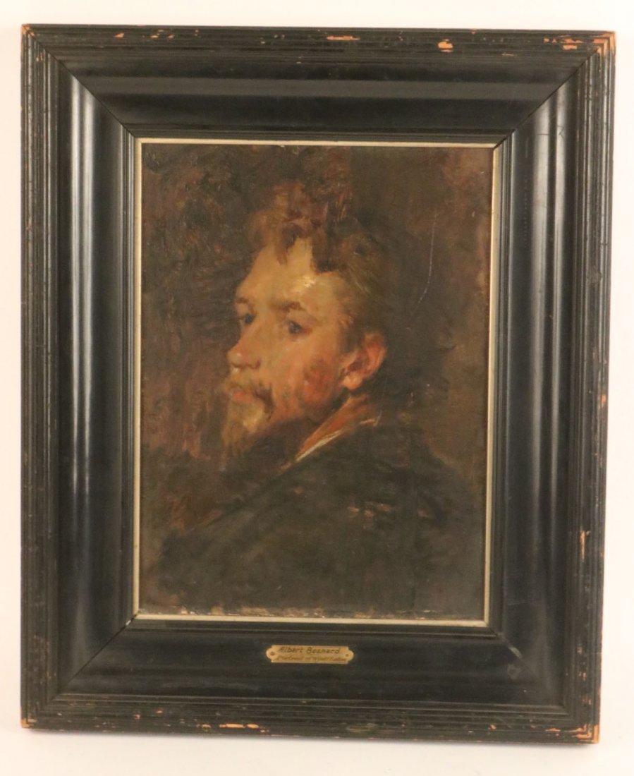 Oil on Board, Portrait of a Man, Albert Besnard