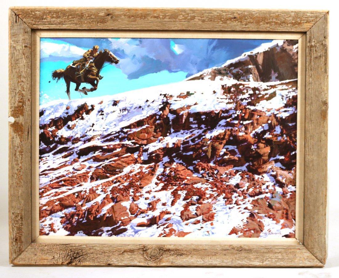 Oil on Canvas, Man on Horse, Oleg Stavrowsky