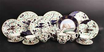 Partial Royal Worcester Porcelain Dinner Service