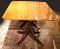 Baker Regency Style Two Pedestal Dining Table