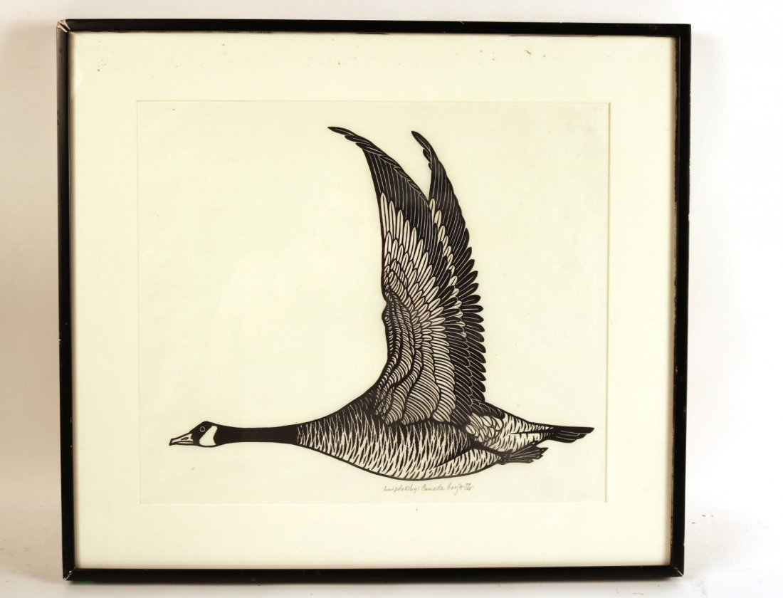 Wood Cut, Canada Goose, Jacques Hnizdovsky
