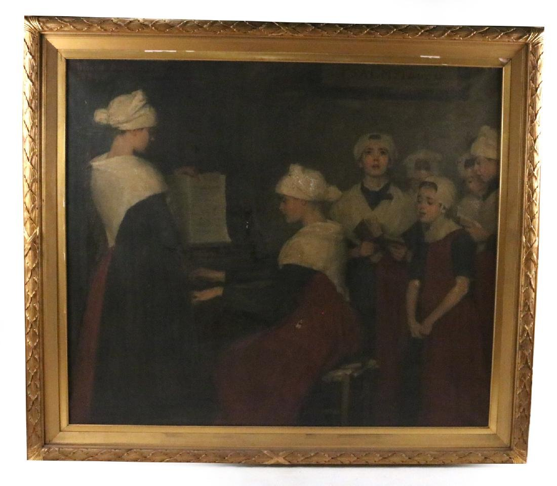 Oil on Canvas, Choir Scene, Therese Schwartz