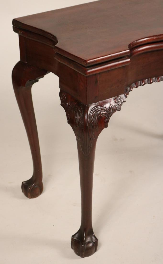 Chippendale Carved Mahogany Card Table - 2