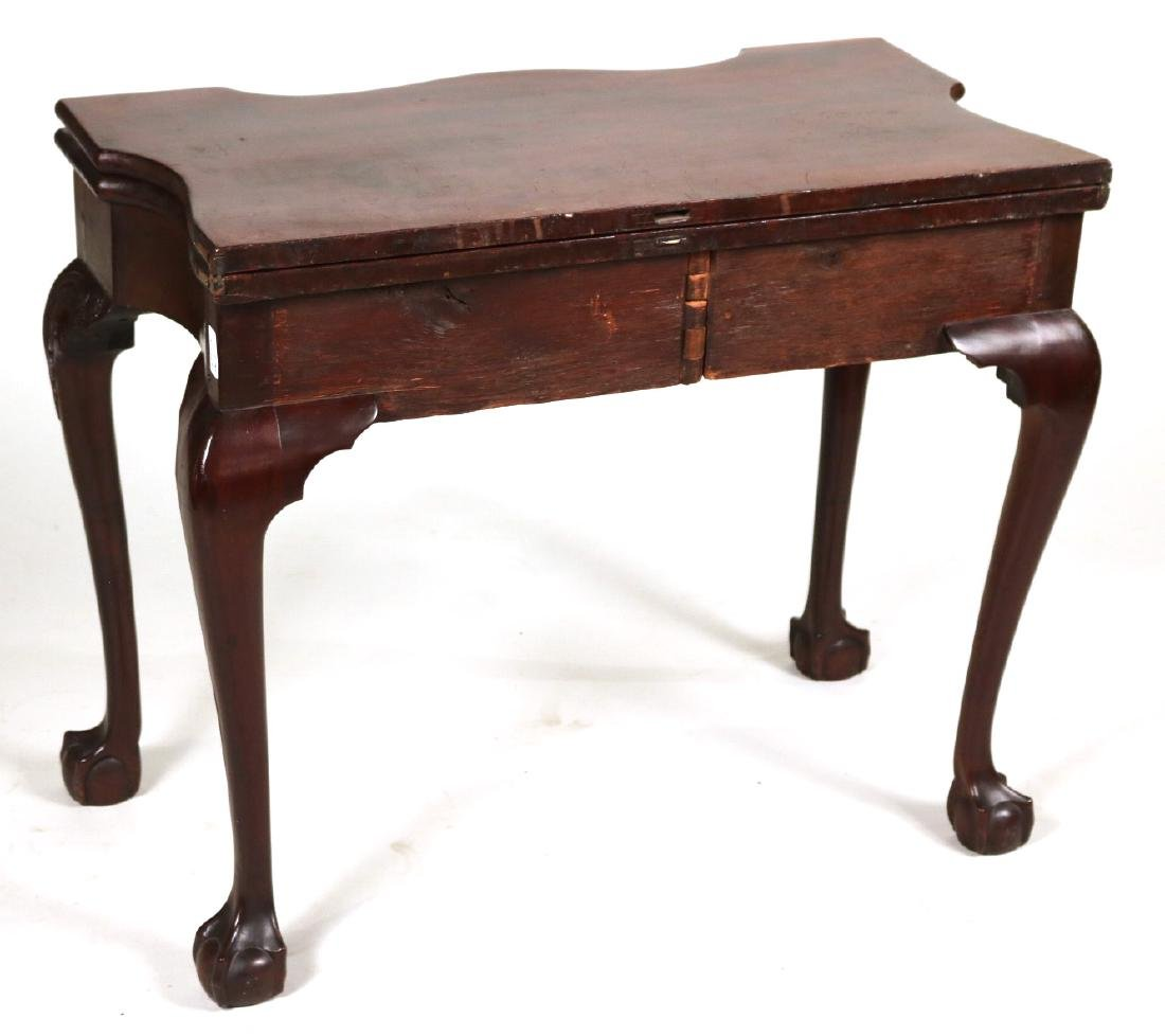 Chippendale Carved Mahogany Card Table - 6