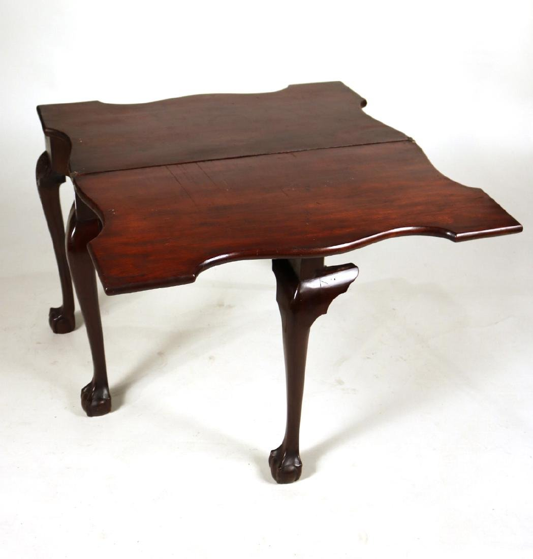 Chippendale Carved Mahogany Card Table - 8