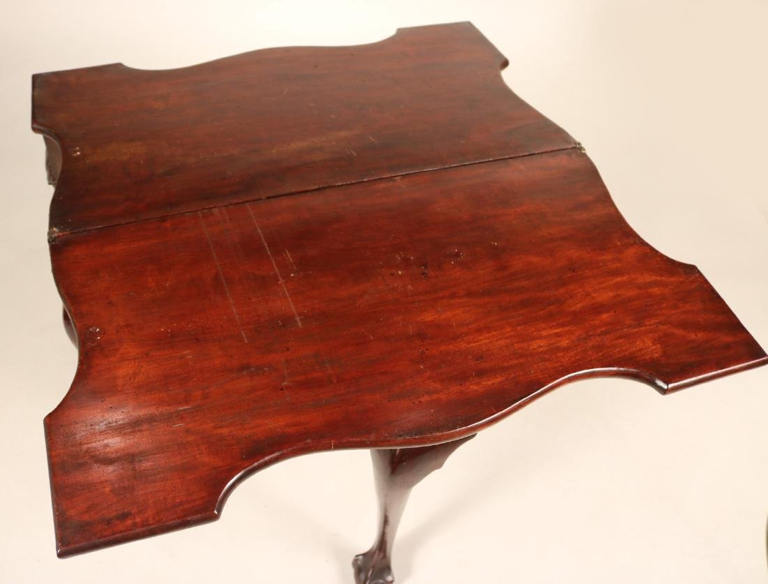 Chippendale Carved Mahogany Card Table - 9
