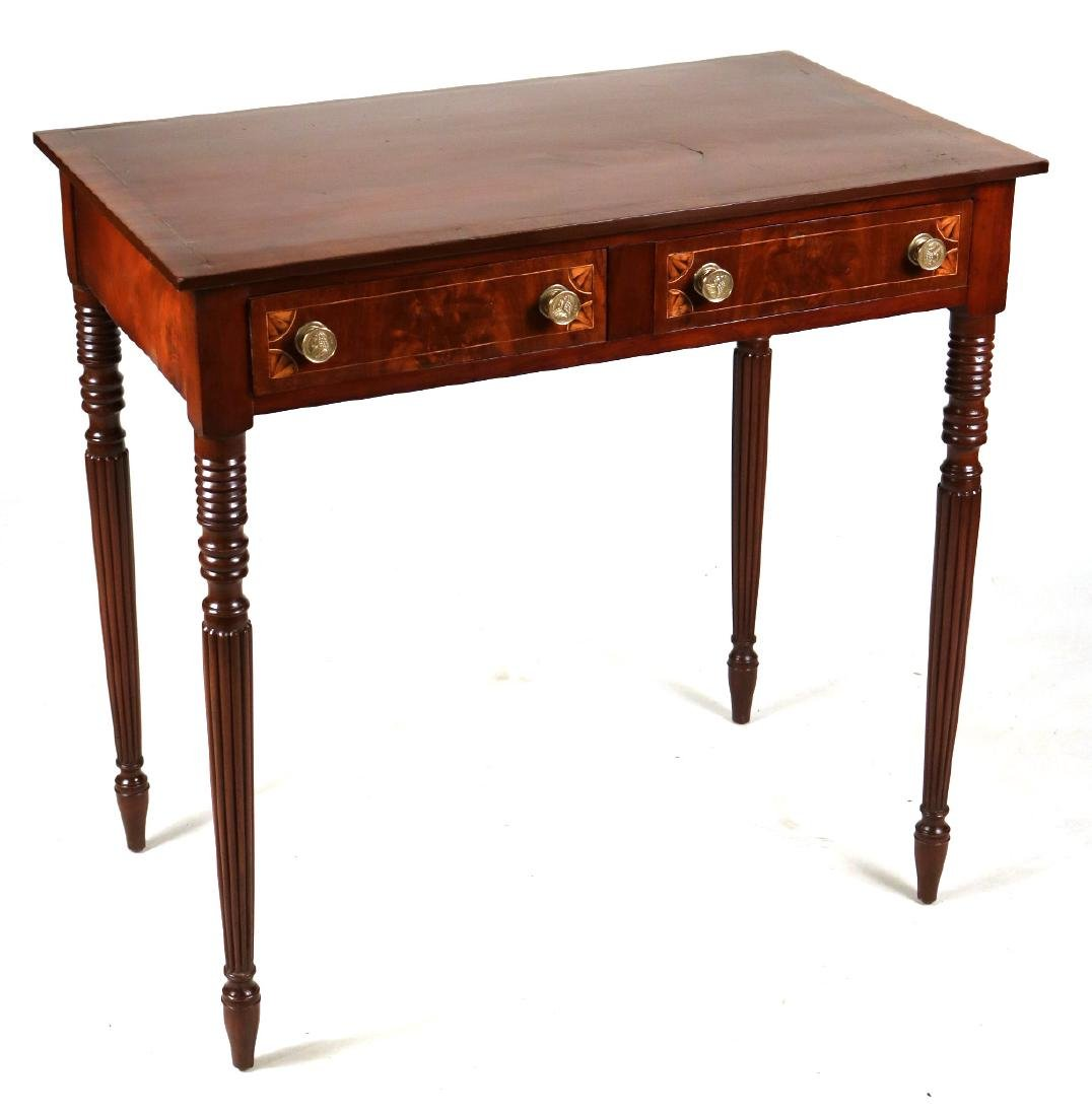 Federal Inlaid Mahogany Serving Table