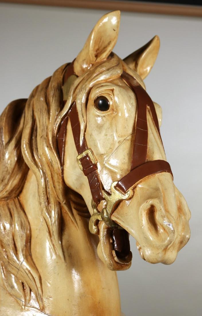Painted Carousel Standing Horse, Dentzel - 2