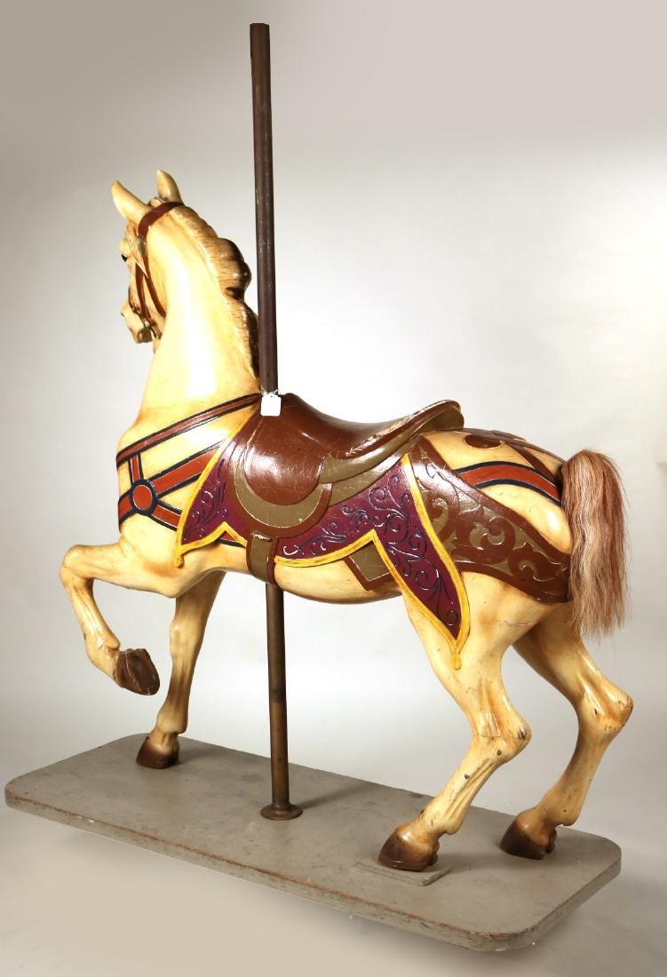Painted Carousel Standing Horse, Dentzel - 6