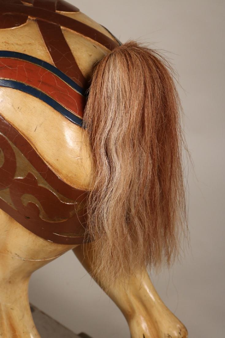 Painted Carousel Standing Horse, Dentzel - 7
