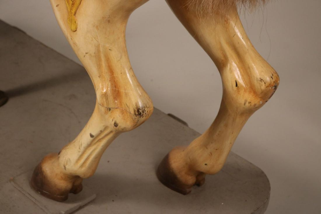 Painted Carousel Standing Horse, Dentzel - 8