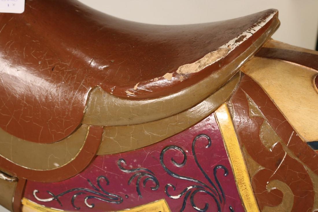 Painted Carousel Standing Horse, Dentzel - 9