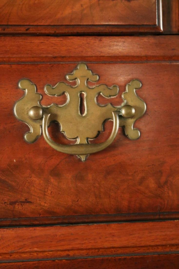 Queen Anne Carved Walnut High Chest of Drawers - 4