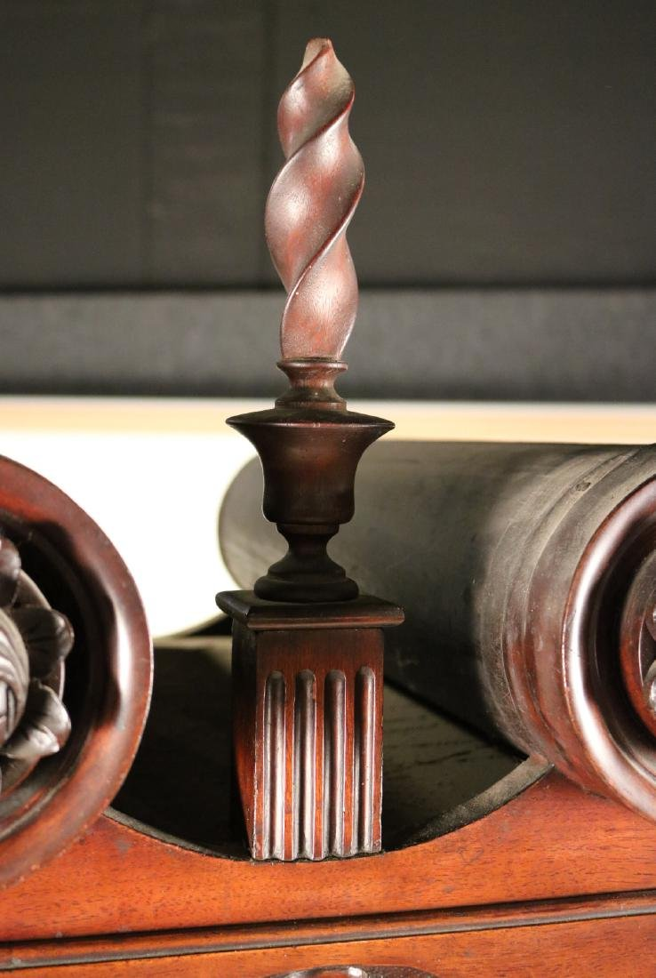 Queen Anne Carved Walnut High Chest of Drawers - 8