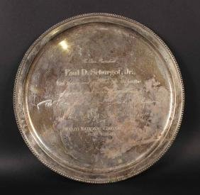 Tiffany & Co Makers Sterling Silver Circular Tray