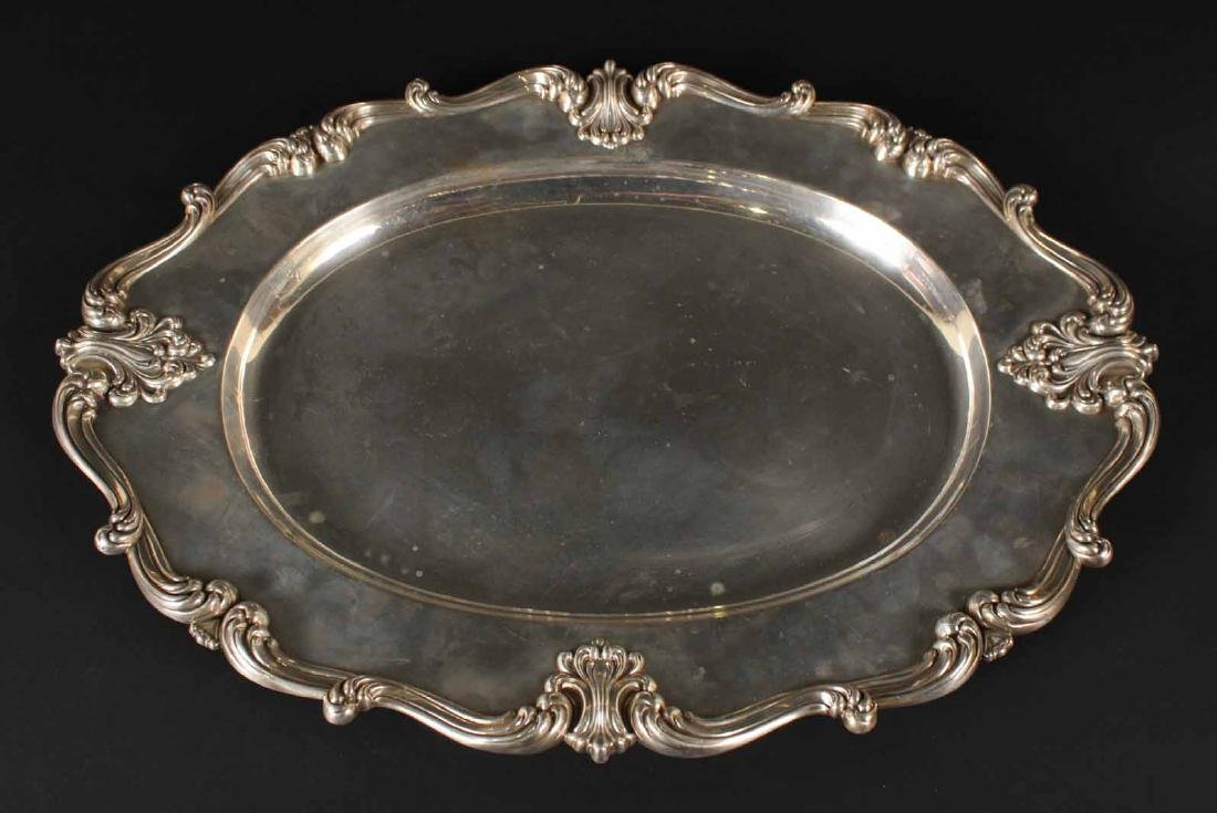 Whiting Sterling Silver Oval Tray