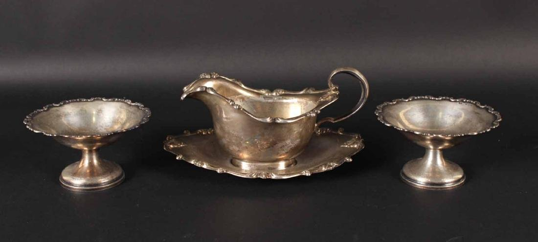 Whiting Sterling Silver Gravy Boat & Underplate