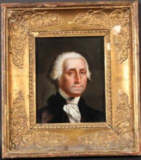 Painting on Glass, Portrait of George Washington