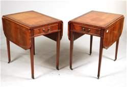 Pair of Regency Style Mahogany Pembroke Tables