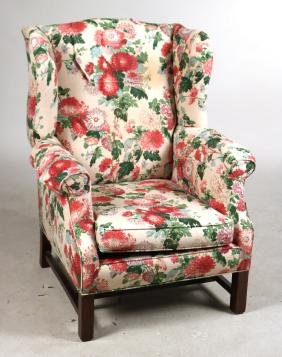 Federal Style Mahogany Wing Chair