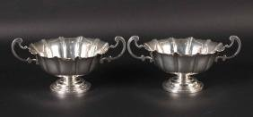 "Pair of Tuttle ""Irish"" Sterling Silver Dishes"