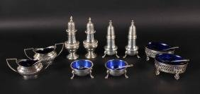 Group of Sterling Silver Master Salt Cellars