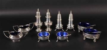 Group of Sterling Silver Master Salt Cellars
