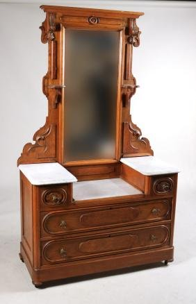 Victorian Marble Top Dressing Chest